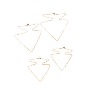 Arrowhead Hoops Sizes Western Gothic Lightweight Earring Union Studio Metals