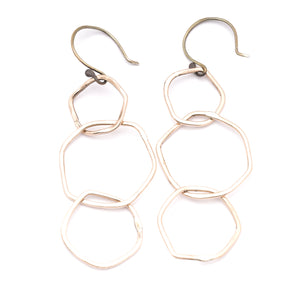 Drifter Silver Bronze Hook Earring Shorties ^^^ Union Studio Metals