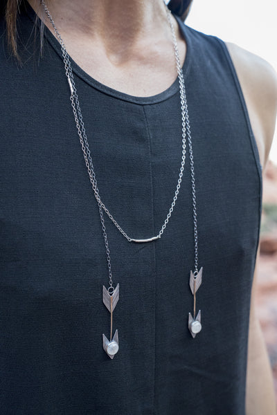 Arrows Double Wrap Necklace