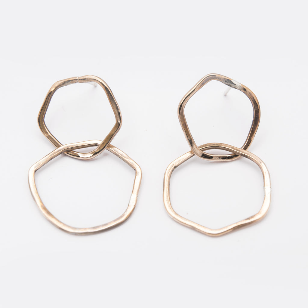 Drifter Stud Earrings Long