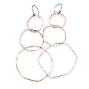 Drifter Bronze Silver Favorite Earrings Long ^^^ Union Studio Metals