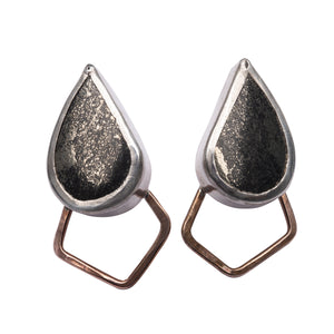 Apache Gold Pyrite Gemstone Black Gold Studs Union Studio Metals