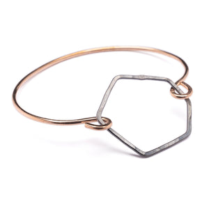 Drifter Bronze Silver Hook Bracelet Octagon Black + Gold ^^^ Union Studio Metals
