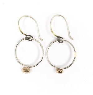 Small Hoop Earrings Daily Comfort Jewelry Sterling Silver Bronze Organic Union Studio Metals