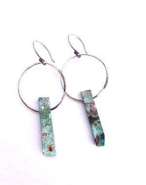 LARGE TURQUOISE JESSICA EARRINGS