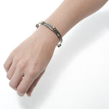 Continental Divide Silver Bangle