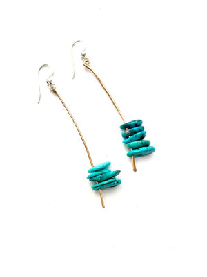 TURQUOISE STICKS & STONES EARRINGS