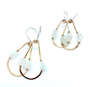 DESERT DAYS MOONSTONE TEARDROP EARRINGS