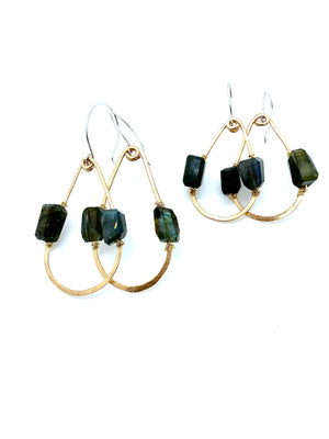 DESERT DAYS LABRADORITE TEARDROP EARRINGS