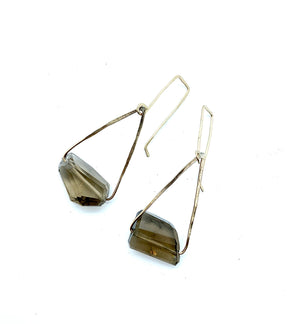 THE NICOLE EARRING SMOKEY QUARTZ