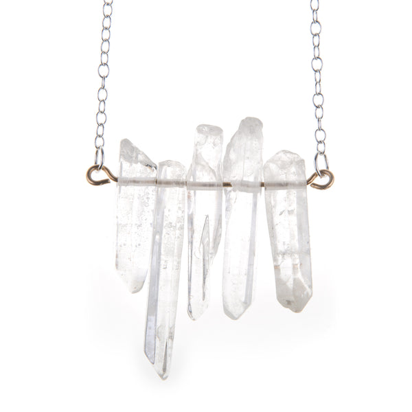 Sticks & Stones Crystal Bar Necklace