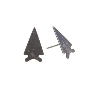 Boho Jewelry Arrow Arrowhead Studs Simple Easy Earrings Union Studio Metals