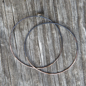 Silver Everyday Unique Lightweight Hoop Earrings Union Studio Metals