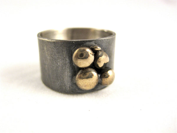 Wood River Ring in Grey and Gold