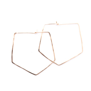 Large Hoop Earrings Gold Fill Silver Diamond Minimal Union Studio Metals