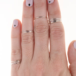 Stackable Silver Midi Rings Modern Jewelry Union Studio Metals