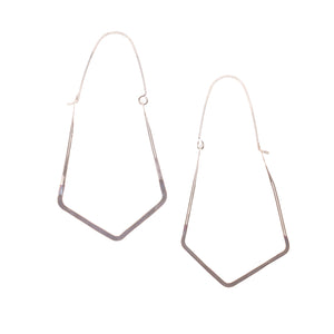 Minimalist Large Gem Shaped Minimal Ombre Hoop Earrings ^^^ Union Studio Metals