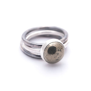 Pyrite Gold Black Stackable Shiny Ring Jewelry Union Studio Metals