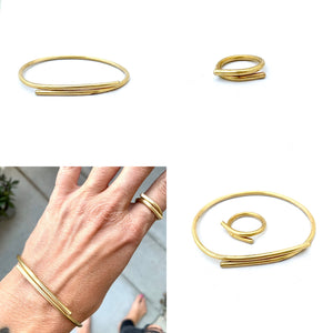 WRAP ADJUSTABLE RING + BRACELET GIFT SET