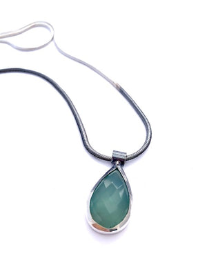 Chalcedony Sterling Ombre Pendant ^^^ Union Studio Metals