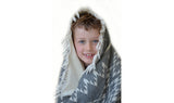 KILIM FLEECE LINED THROW