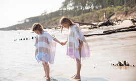 Seashore Child's Terry-Lined Hooded Poncho