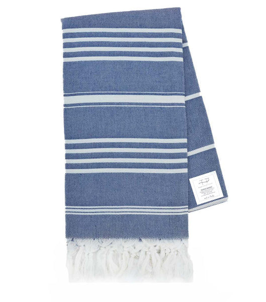 NATURAL TOWEL NAVY