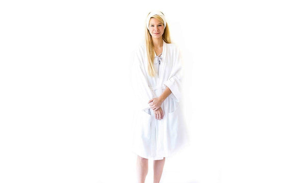 Ottoman Short Bathrobe  *FINAL SALE*