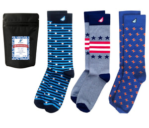 3-pack Fun Multi-color Colorful Men's Dress Socks - American-made
