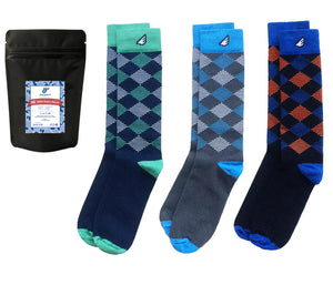 Argyle Gift 3-pack Variety Dress Casual Socks American-made