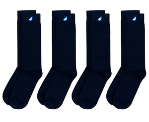 4-Pack Black Socks - Premium Solids. American Made Dress Gift Bundle
