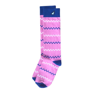 Charlie - Pink. American Made Dress / Casual Chevron Socks