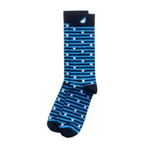 Carolina Panthers Quality Fun Unique Crazy Stripe Dress Casual Socks Black Sky Blue White Made in America USA
