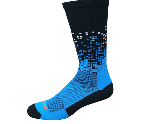 carolina panthers black sky blue american made in usa athletic socks gift stocking stuffer men women boys