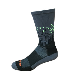 Headliner - Dark Grey & Black. American Made Unique Athletic Socks