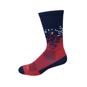 Headliner - Navy & Red. American Made Unique Athletic Socks