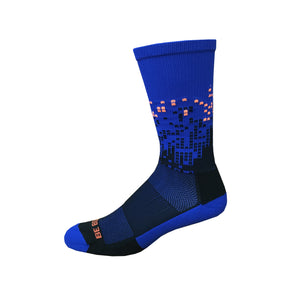 Headliner - Royal Blue & Black. American Made Unique Athletic Socks