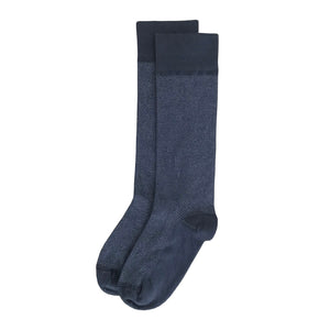 Dark Grey Herringbone Men's Dress Sock Supima Cotton Made in USA