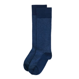 Navy Herringbone Men's Dress Sock Supima Cotton Made in USA
