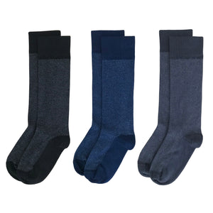 Herringbone Variety Dress 3-Pack - Premium Supima Cotton American Made Socks
