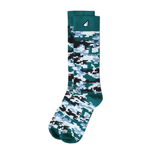 Ranger - Dark Green & Brown. American Made Dress / Casual Digital Camo Socks