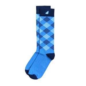 Villanova UNC Columbia Argyle Quality Fun Unique Crazy Dress Casual Socks Sky Blue Navy White Made in America USA