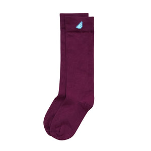 Premium Solids - Maroon. American Made Dress Socks