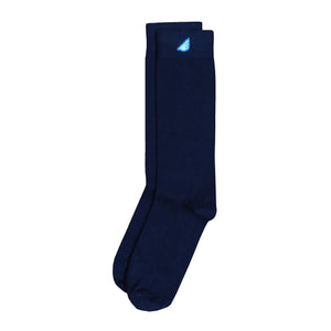4-Pack Navy - Premium Solids. American Made Dress Socks Bundle