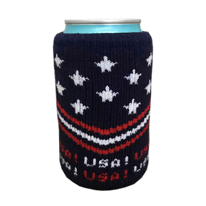 Stars & Stripes USA! Knit Beer Drink Koozie