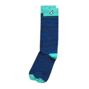Men's Fun Unique Crazy Stripe Dress Casual Socks Black Sky Blue Green Made in America USA