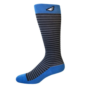 Underdog - Grey & Sky Blue. American Made Stripe 15-20mmHg OTC Compression Socks