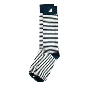 Underdog - Khaki & Navy. American Made Dress / Casual Stripe Socks