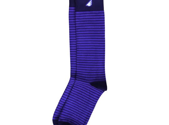 Underdog - Royal & Navy. American Made Dress / Casual Stripe Socks