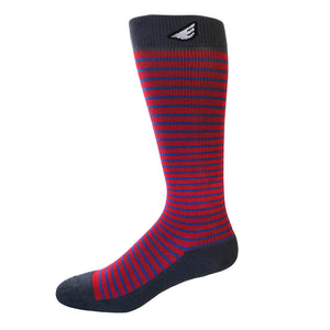 Underdog - Red, Blue & Dark Grey. American Made Stripe 15-20mmHg OTC Compression Socks